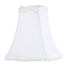 "<strong>Livex Lighting</strong> 4.5"" x 4.5"" Fancy Square Silk Clip Chandelier Shade in White"