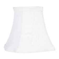 "<strong>Livex Lighting</strong> 4.5"" x 5"" Fancy Square Silk Clip Chandelier Shade in White"