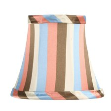<strong>Livex Lighting</strong> Multi Color Striped Silk Bell Clip Chandelier Shade