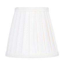 Pleat Empire Silk Clip Chandelier Shade in White