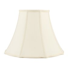 Bell Star Shantung Silk Lamp Shade in Off White