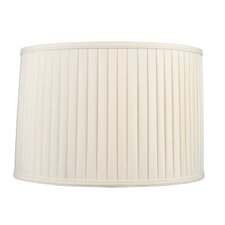 Shantung Silk Pleat Drum Lamp Shade in Off White
