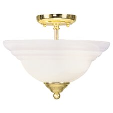 North Port 2 Light Semi Flush Mount