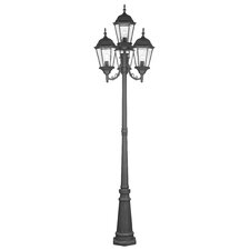 "<strong>Livex Lighting</strong> Hamilton 4 Light 95"" Outdoor Post Lantern Set"