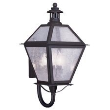 <strong>Livex Lighting</strong> Waldwick 3 Light Outdoor Wall Lantern