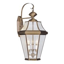 Georgetown 3 Light Outdoor Wall Lantern