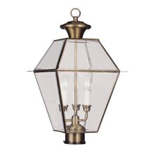 <strong>Livex Lighting</strong> Westover 3 Light Outdoor Post Lantern