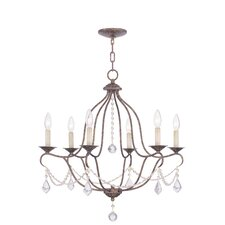 <strong>Livex Lighting</strong> Chesterfield 6 Light Chandelier