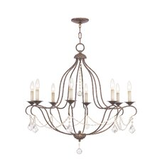 <strong>Livex Lighting</strong> Chesterfield 8 Light Chandelier