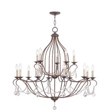 <strong>Livex Lighting</strong> Chesterfield 15 Light Chandelier