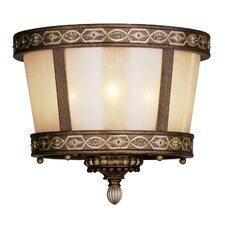 <strong>Livex Lighting</strong> Seville 3 Light Flush Mount