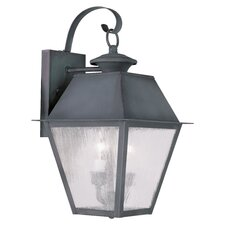 Mansfield 2 Light Outdoor Wall Lighting