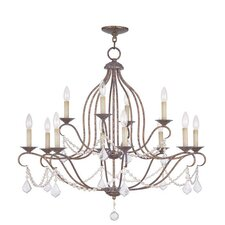 <strong>Livex Lighting</strong> Chesterfield 12 Light Chandelier