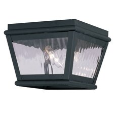 Exeter 2 Light Outdoor Flush Mount
