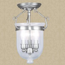Jefferson 3 Light Semi Flush Mount