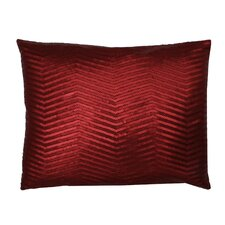 Jolie Chevron Matte Sequin on Faux Linen Pillow