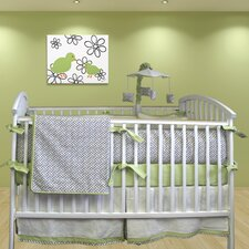 Metro 5 Piece Crib Bedding Set with Mobile