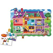 <strong>The Learning Journey</strong> Puzzle Doubles Create A Scene Dollhouse