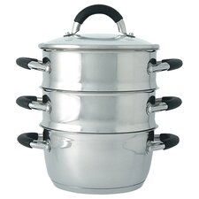 <strong>Ready Steady Cook</strong> 18cm Bistro 3-Tier Steamer