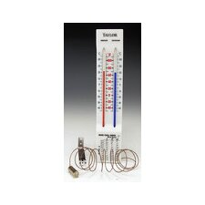 Indoor and Outdoor Window Thermometer