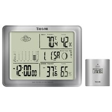 Taylor Precision Products Wireless Weather Forecaster Wall Clock