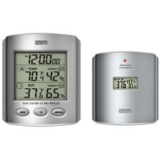 Wireless Indoor/Outdoor Thermometer with Humidity and Clock