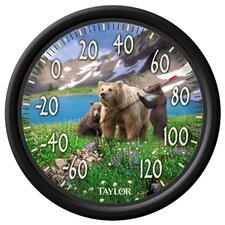 Bear Cubs Dial Thermometer