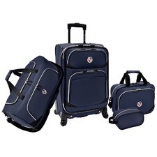 Beverly Hills Country Club San Vincente 4 Piece Luggage Set