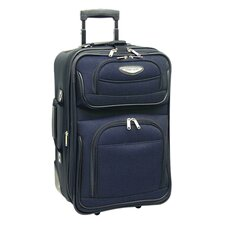 """Amsterdam 21"""" Expandable Rolling Carry On I"""
