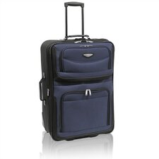 "Amsterdam 25"" Two-Tone Expandable Rolling Suitcase in Navy"