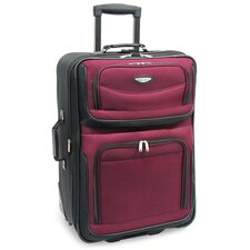 "<strong>Traveler's Choice</strong> Amsterdam 29"" Expandable Rolling Upright in Burgundy"
