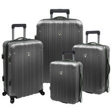 New Luxembourg 4 Piece Expandable, Hard-Sided Luggage Set