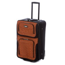 """Amsterdam 25"""" Expandable Rolling Suitcase in Orange"""