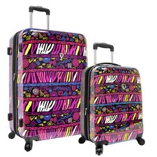 <strong>Traveler's Choice</strong> Bohemian 2 Piece Hardside Expandable Luggage Set