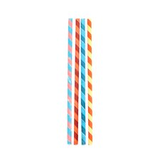 Box of 144 Color Stripes Paper Straws