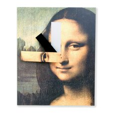 <strong>Kikkerland</strong> Mona Lisa Wall Clock