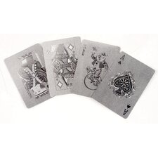 <strong>Kikkerland</strong> Silver Playing Cards