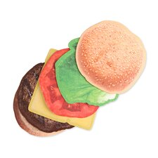 <strong>Kikkerland</strong> Burger Coasters (Set of 6)