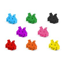 Space Invader Crayons (Set of 8)