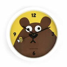 <strong>Kikkerland</strong> Googly Bear Wall Clock