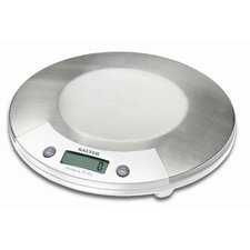 <strong>Salter</strong> Electronic Kitchen Scale in Stainless with White Accents