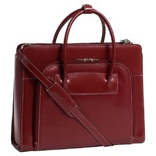 W Series Lake Forest Leather Laptop Briefcase