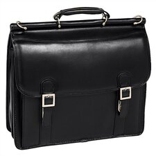 V Series Halsted Leather Laptop Briefcase