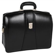 V Series Harrison Partners Leather Laptop Briefcase