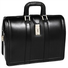 V Series Morgan Litigator Leather Laptop Briefcase