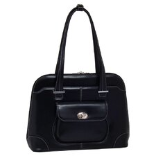 W Series Avon Leather Laptop Briefcase