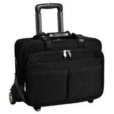 R Series Roosevelt Leather 2-in-1 Removable-Wheeled Case in Black