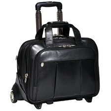 R Series Damen Leather 2-in-1 Removable-Wheeled Laptop Case