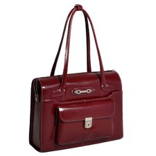 W Series Wenonah Leather Laptop Briefcase