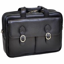 S Series Kenwood Leather Laptop Briefcase